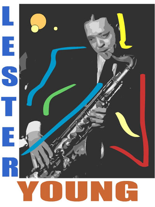 Lester Young Fine Art Print