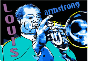 louis armstrong art