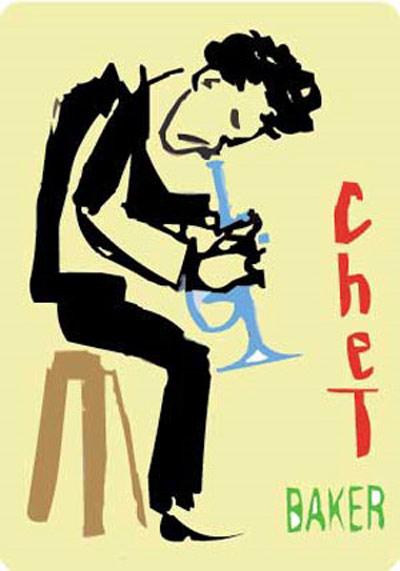CHET BAKER FINE ART PRINT